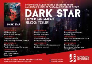 Dark Star blog tour ad